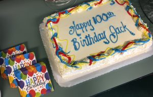 Jack's 100th Birthday cake